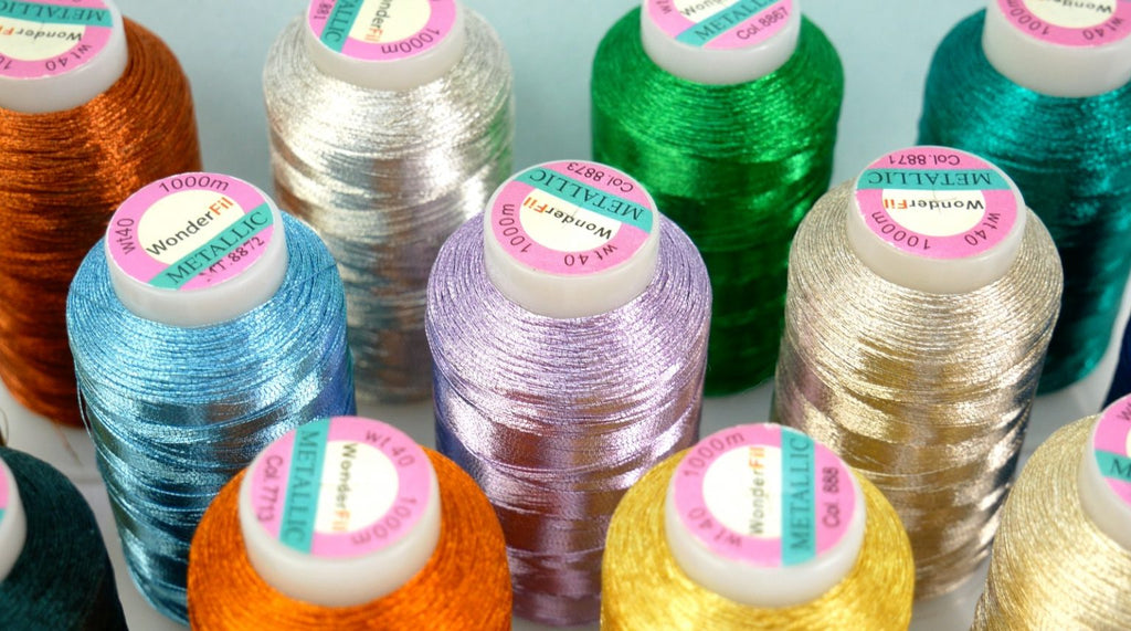 Introducing Spotlite™ 40wt Rayon Core Metallic Thread