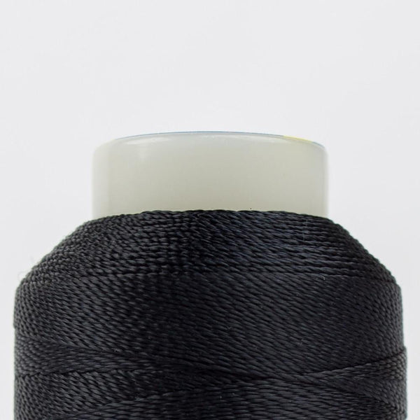 AC160 - Accent 12wt Rayon Black Thread - wonderfil-online-eu