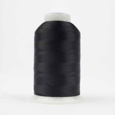 DecoBob 80wt/2ply Cottonized Polyester Black thread