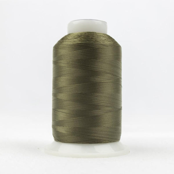 DecoBob 80wt/2ply Cottonized Polyester Moss green thread