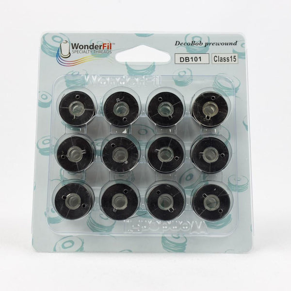 DecoBob 80wt/2ply Cottonized Polyester DBP101 bobbins threads
