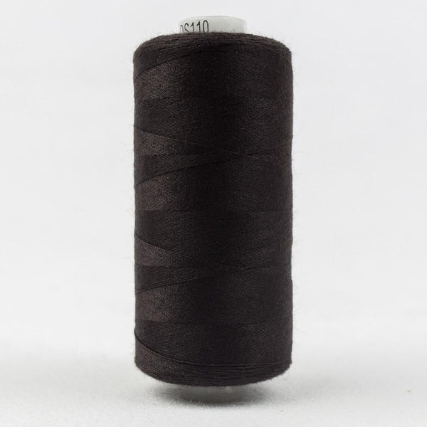 DS110- Designer All purpose 40wt Polyester Seal Brown Thread - wonderfil-online-eu