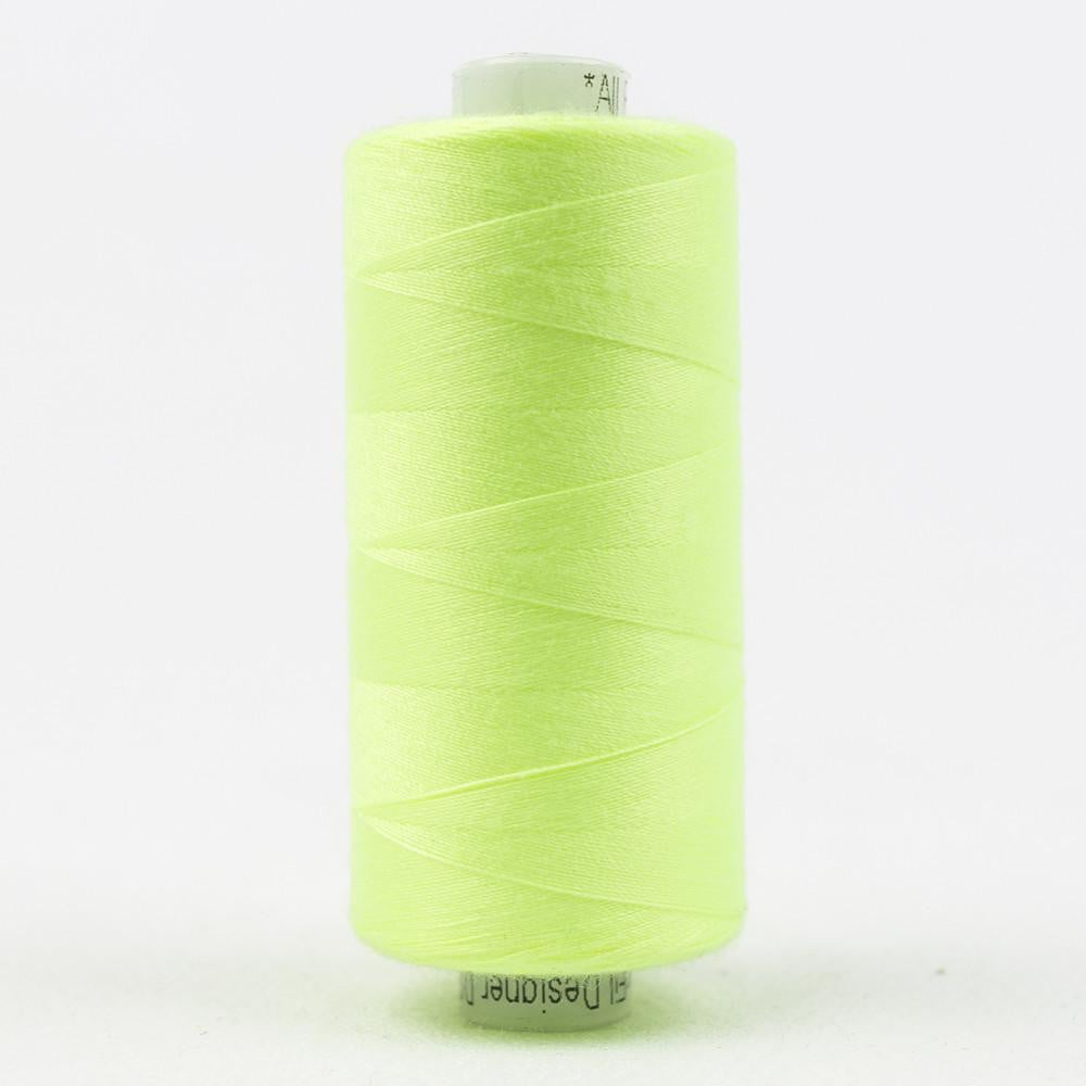 DS428 - Designer All purpose 40wt Polyester Fluorescent Green Thread - wonderfil-online-eu