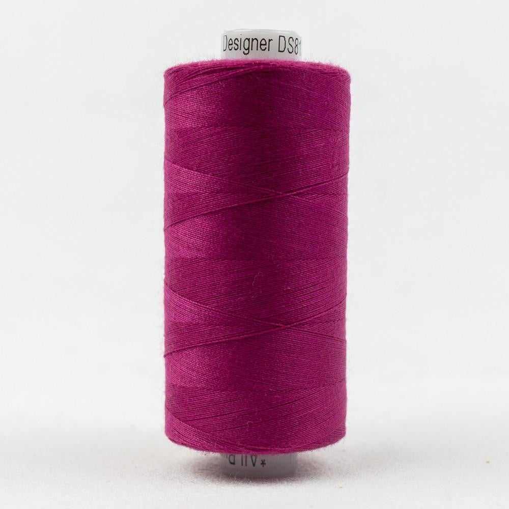 DS813 - Designer All purpose 40wt Polyester Violet Red Thread - wonderfil-online-eu