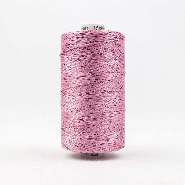 DZ1201 - Rayon and Metallic Baby Pink Thread - wonderfil-online-eu