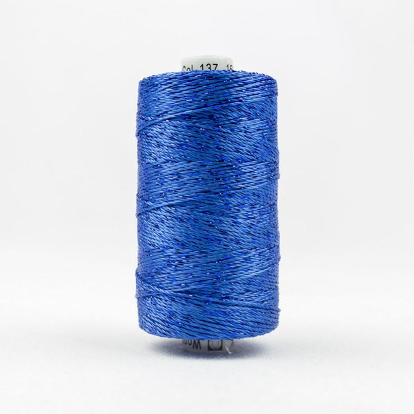 DZ137 - Rayon and Metallic True Blue Thread - wonderfil-online-eu