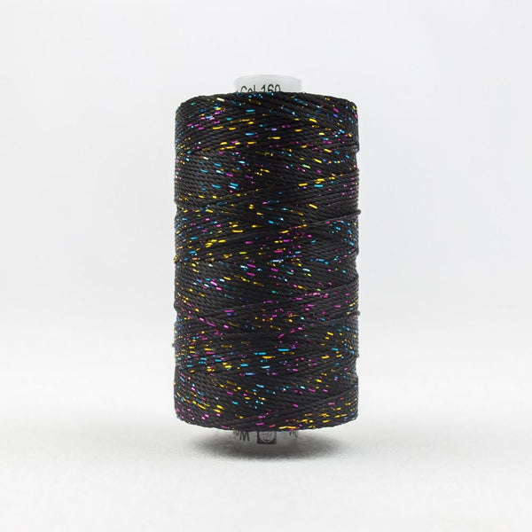 DZ160 - Rayon and Metallic Black Multicolor Thread - wonderfil-online-eu
