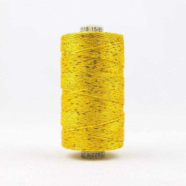 DZ2118 - Rayon and Metallic Sunny Yellow Thread - wonderfil-online-eu