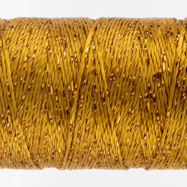 DZ328 - Rayon and Metallic Golden Green Thread - wonderfil-online-eu