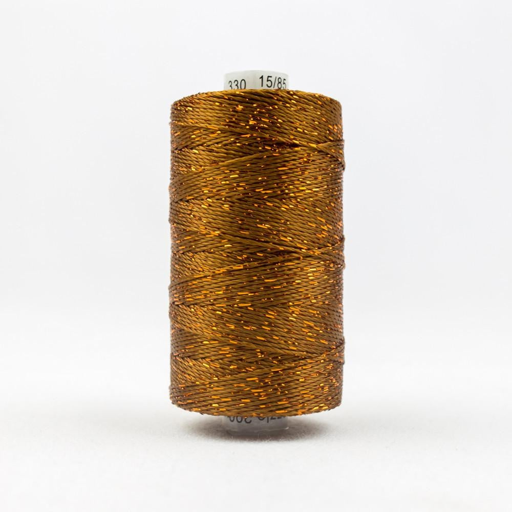DZ330 - Rayon and Metallic Acorn Brown Thread - wonderfil-online-eu