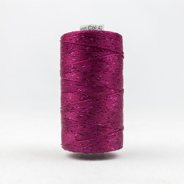 DZ42 - Rayon and Metallic Raspberry Thread - wonderfil-online-eu