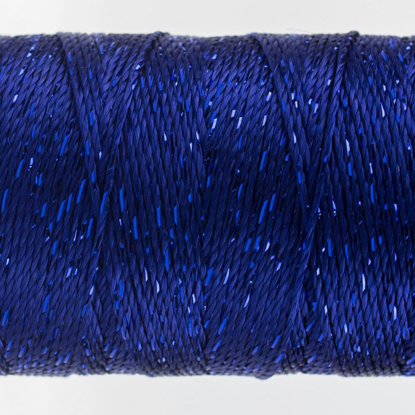 DZ50 - Rayon and Metallic Dark Blue Thread - wonderfil-online-eu