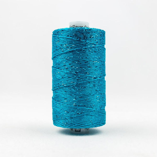 DZ538 - Rayon and Metallic Dark Turquoise Thread - wonderfil-online-eu
