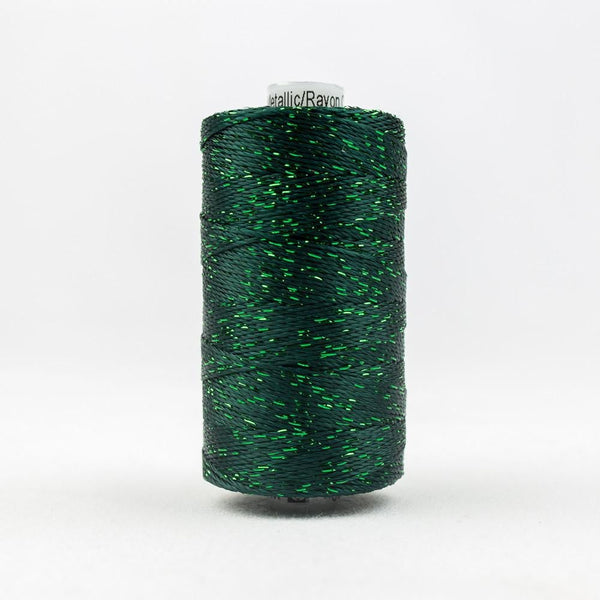 DZ566 - Rayon and Metallic Forest Green Thread - wonderfil-online-eu