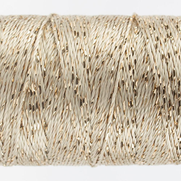 DZ7102 - Rayon and Metallic Ecru Thread - wonderfil-online-eu