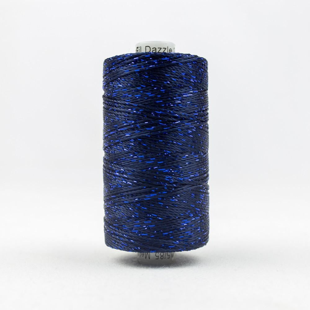 DZ7148 - Rayon and Metallic Midnight Blue Thread - wonderfil-online-eu