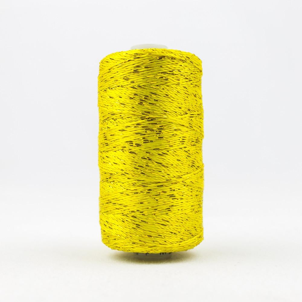 DZ938 - Rayon and Metallic Lemon Yellow Thread - wonderfil-online-eu