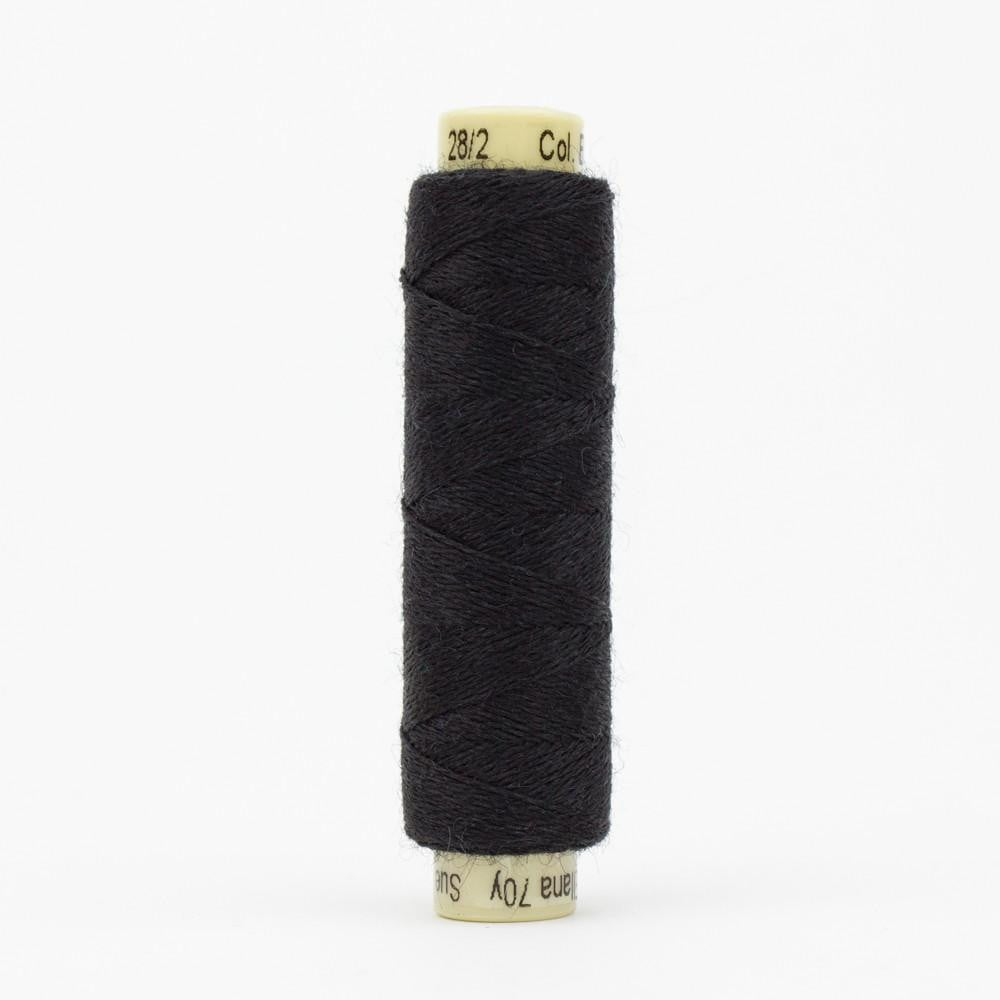 EN30 - Ellana 12wt Wool Acrylic Black Thread - wonderfil-online-eu