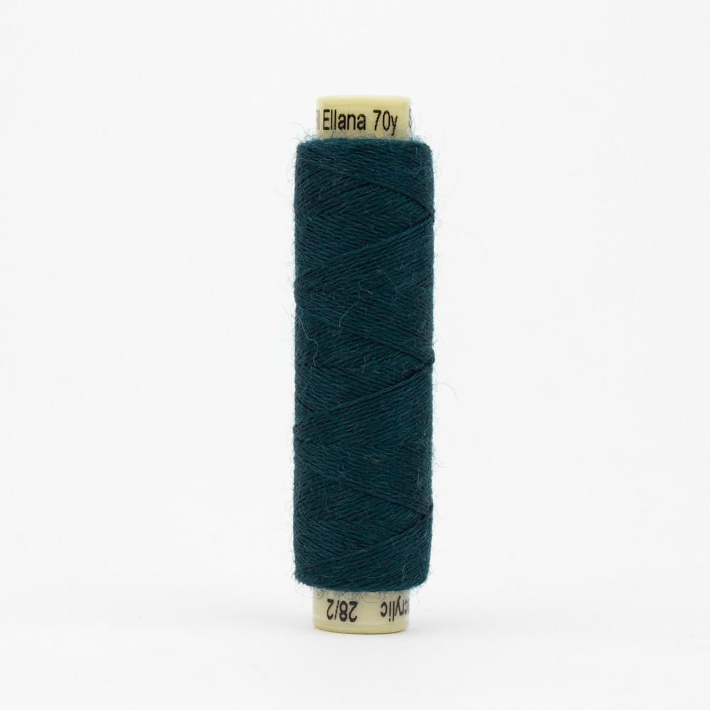 EN60 - Ellana 12wt Wool Acrylic Deep Teal Thread - wonderfil-online-eu