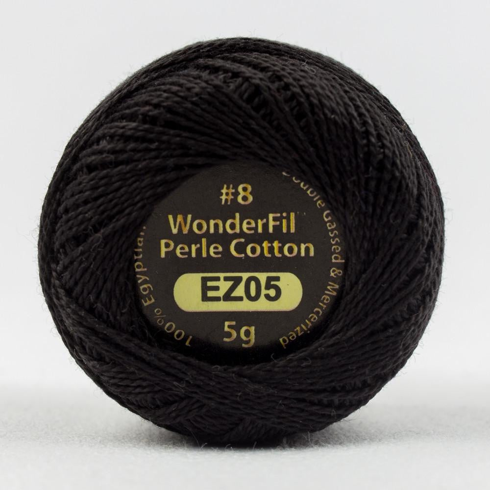 EL5G05 - Eleganza 8wt Egyptian Cotton Licorice Thread - wonderfil-online-eu