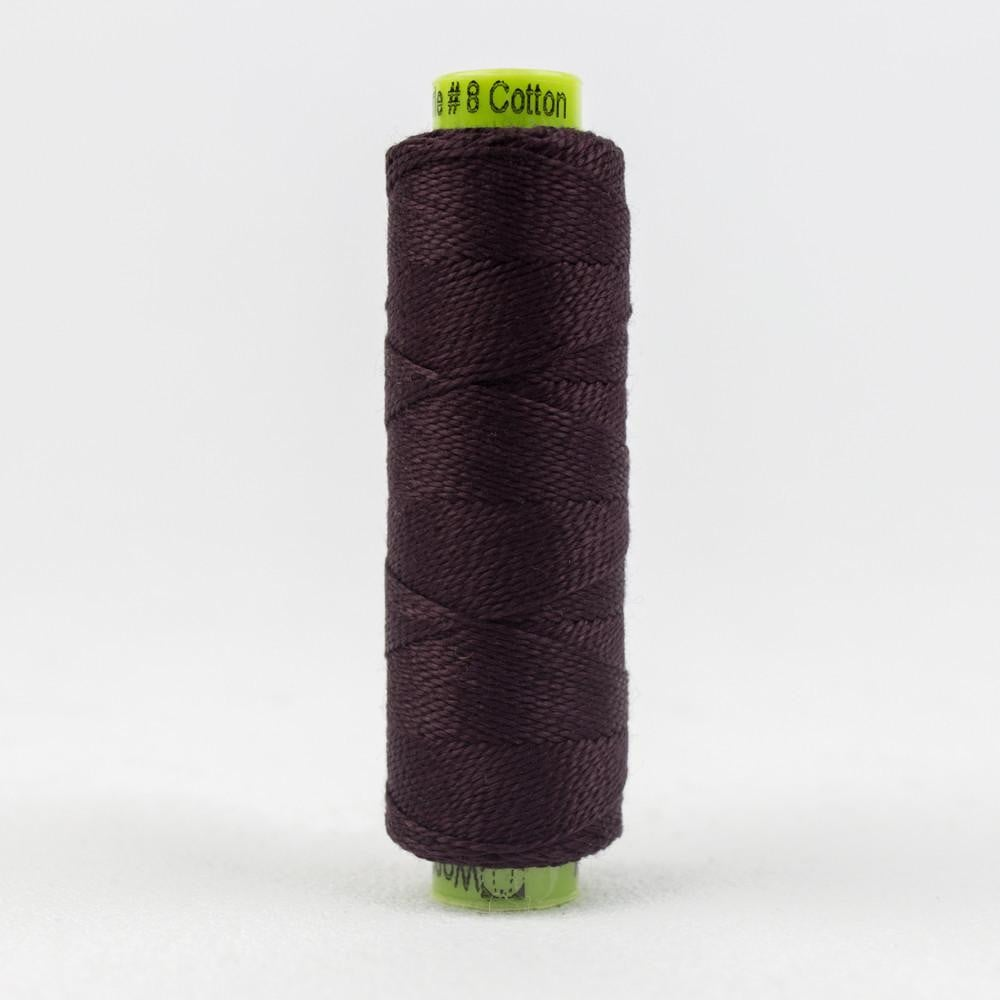 SSEZ808 - Eleganza 8wt Egyptian Cotton Black Berry Thread - wonderfil-online-eu