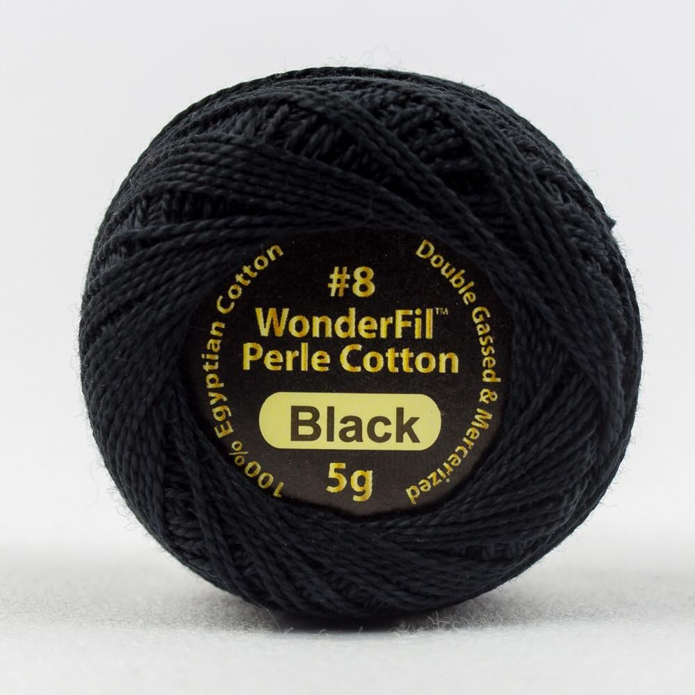 EL5Gblack - Eleganza 8wt Egyptian Cotton Black Thread - wonderfil-online-eu