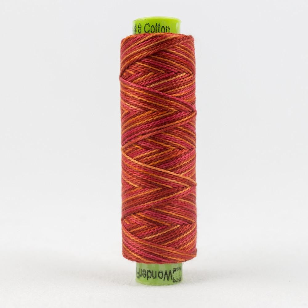 SSEZM829 - Eleganza 8wt Egyptian Cotton Pink Wildfire Thread - wonderfil-online-eu