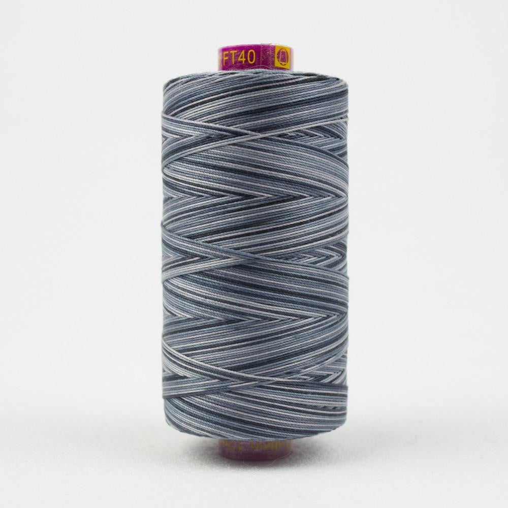 FT40 - Fruitti 12wt Egyptian Cotton Slate Thread - wonderfil-online-eu