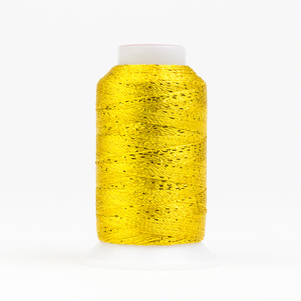 GM2118 - GlaMore 12wt Rayon and Metallic Sunny Yellow Thread - wonderfil-online-eu