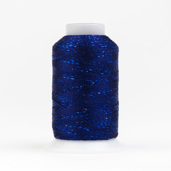GM50 - GlaMore 12wt Rayon and Metallic Dark Blue Thread - wonderfil-online-eu