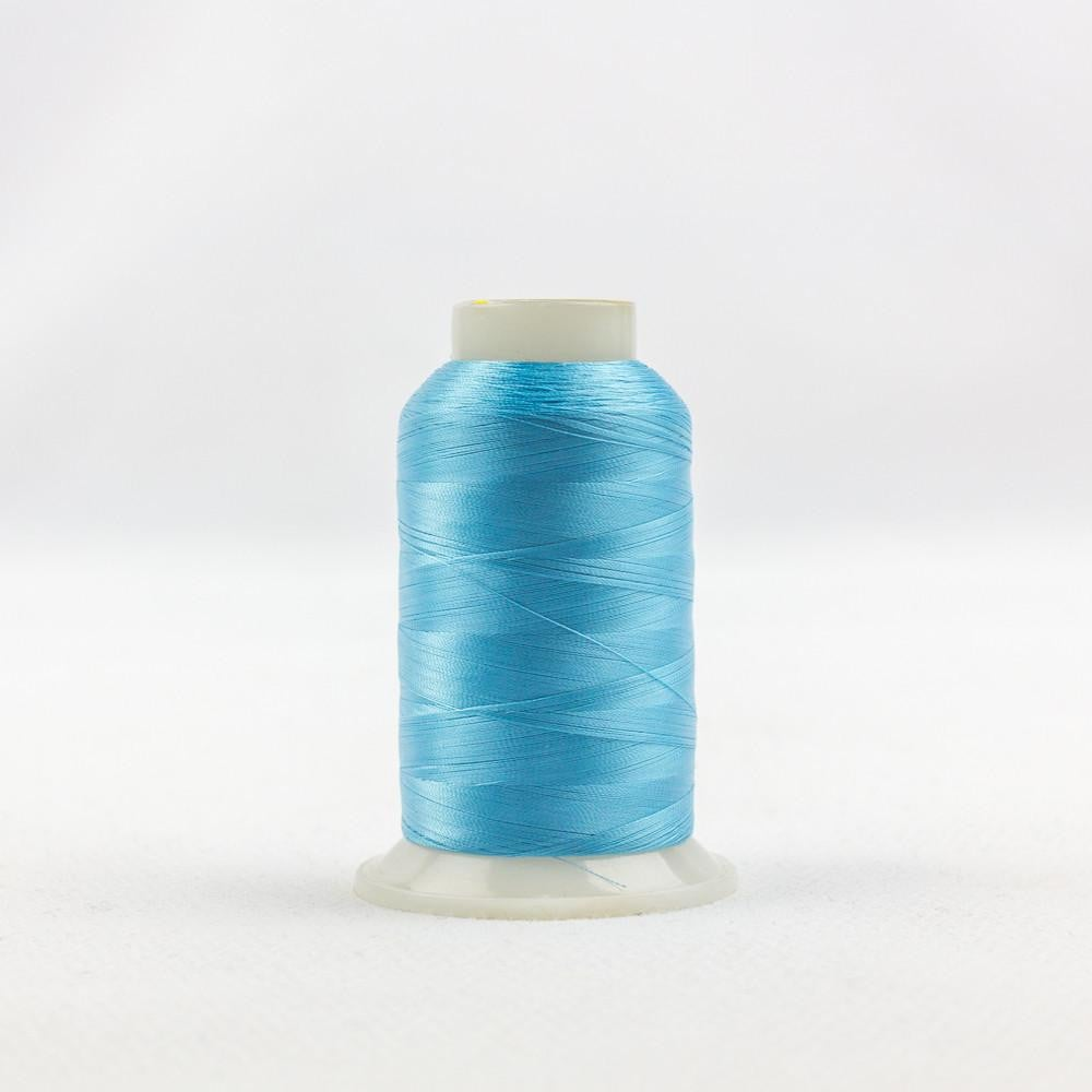 IF716 - InvisaFil 100wt Cotton Polyester Bright Turquoise Thread - wonderfil-online-eu