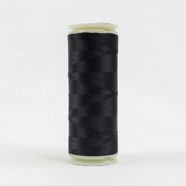 IF101 - InvisaFil 100wt Cotton Polyester Black Thread - wonderfil-online-eu