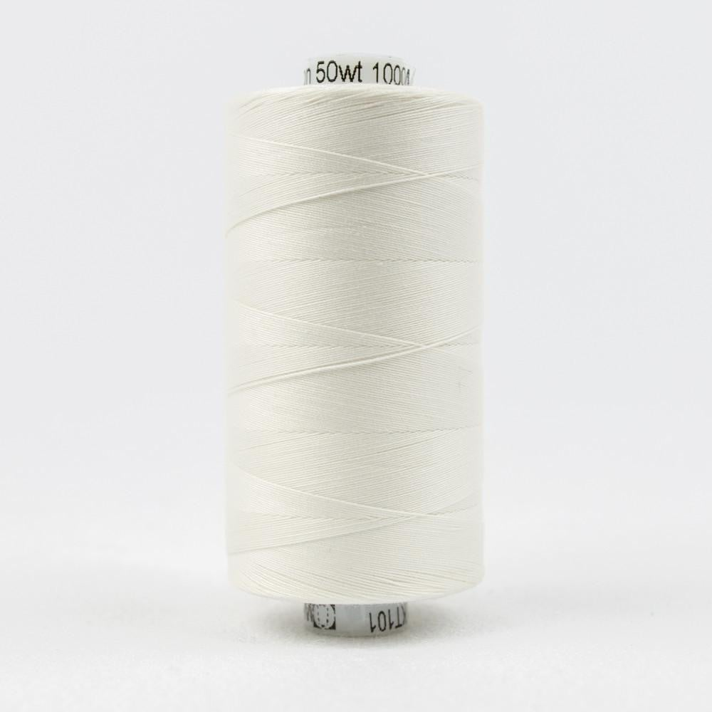 KT101 - Konfetti 50wt Egyptian Cotton Soft White Thread - wonderfil-online-eu