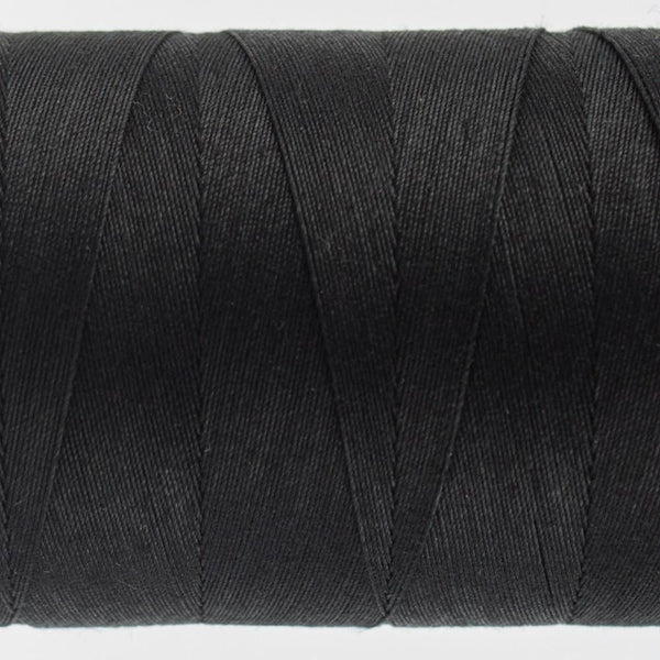 KT200 - Konfetti 50wt Egyptian Cotton Black Thread - wonderfil-online-eu