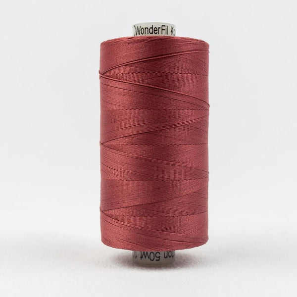 KT305 - Konfetti 50wt Egyptian Cotton Dark Rose Thread - wonderfil-online-eu