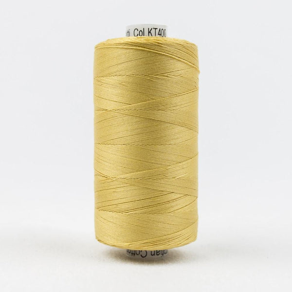 KT400 - Konfetti 50wt Egyptian Cotton Gold Thread - wonderfil-online-eu