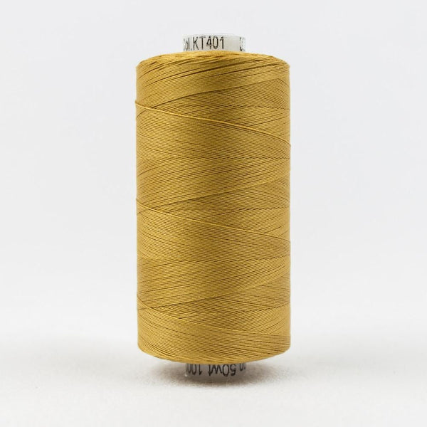 KT401 - Konfetti 50wt Egyptian Cotton Dark Gold Thread - wonderfil-online-eu