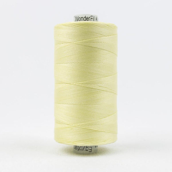 KT405 - Konfetti 50wt Egyptian Cotton Pale Yellow Thread - wonderfil-online-eu