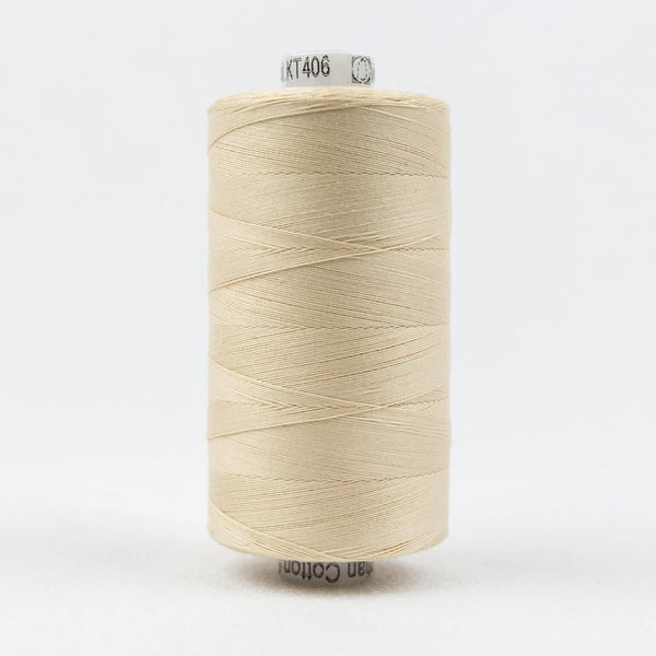 KT406 - Konfetti 50wt Egyptian Cotton Ivory Thread - wonderfil-online-eu