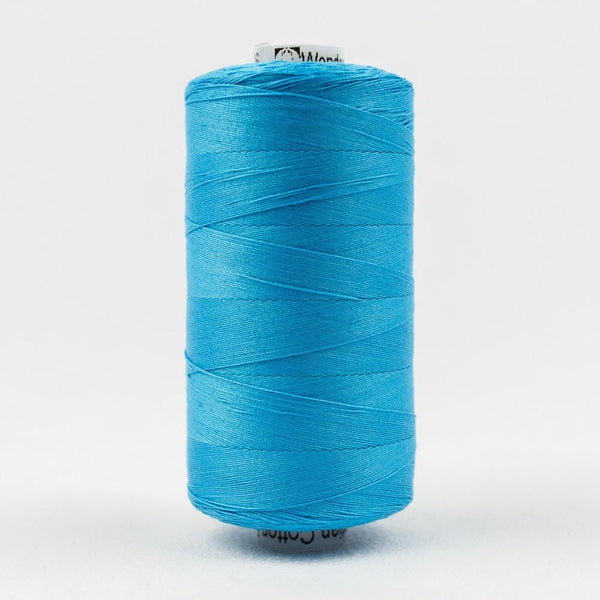 KT606 -  Konfetti 50wt Egyptian Cotton Peacock Blue Thread - wonderfil-online-eu