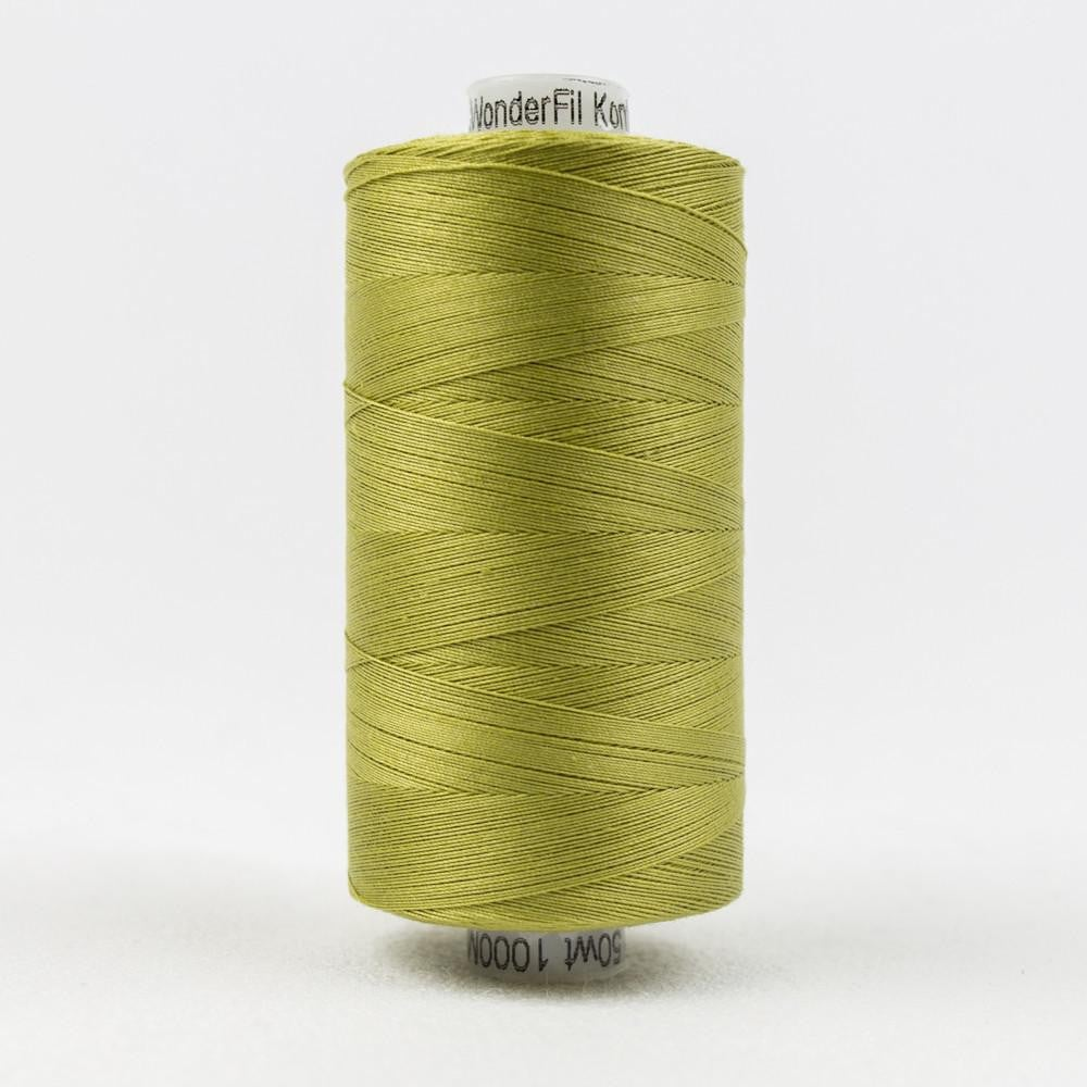 KT611 - Konfetti 50wt Egyptian Cotton Brass Green Thread - wonderfil-online-eu