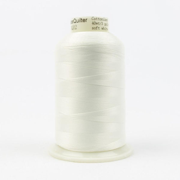 MQ02 - All Purpose Soft White Polyester Thread 40wt - wonderfil-online-eu