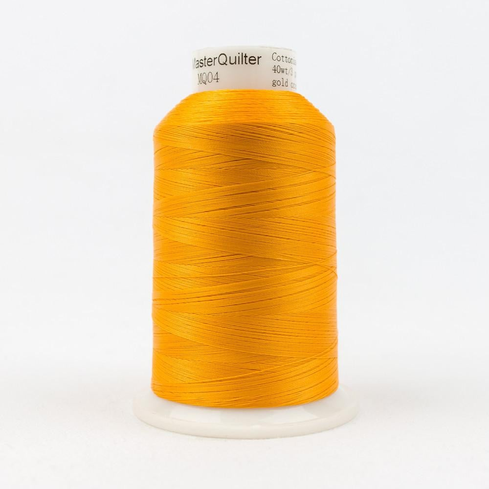 MQ04 - All Purpose Gold Orange Polyester Thread 40wt - wonderfil-online-eu