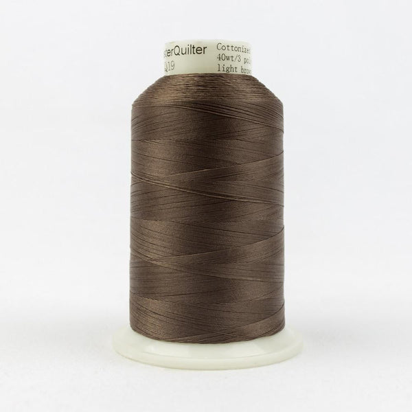 MQ19 - All Purpose Light Brown Polyester Thread 40wt - wonderfil-online-eu