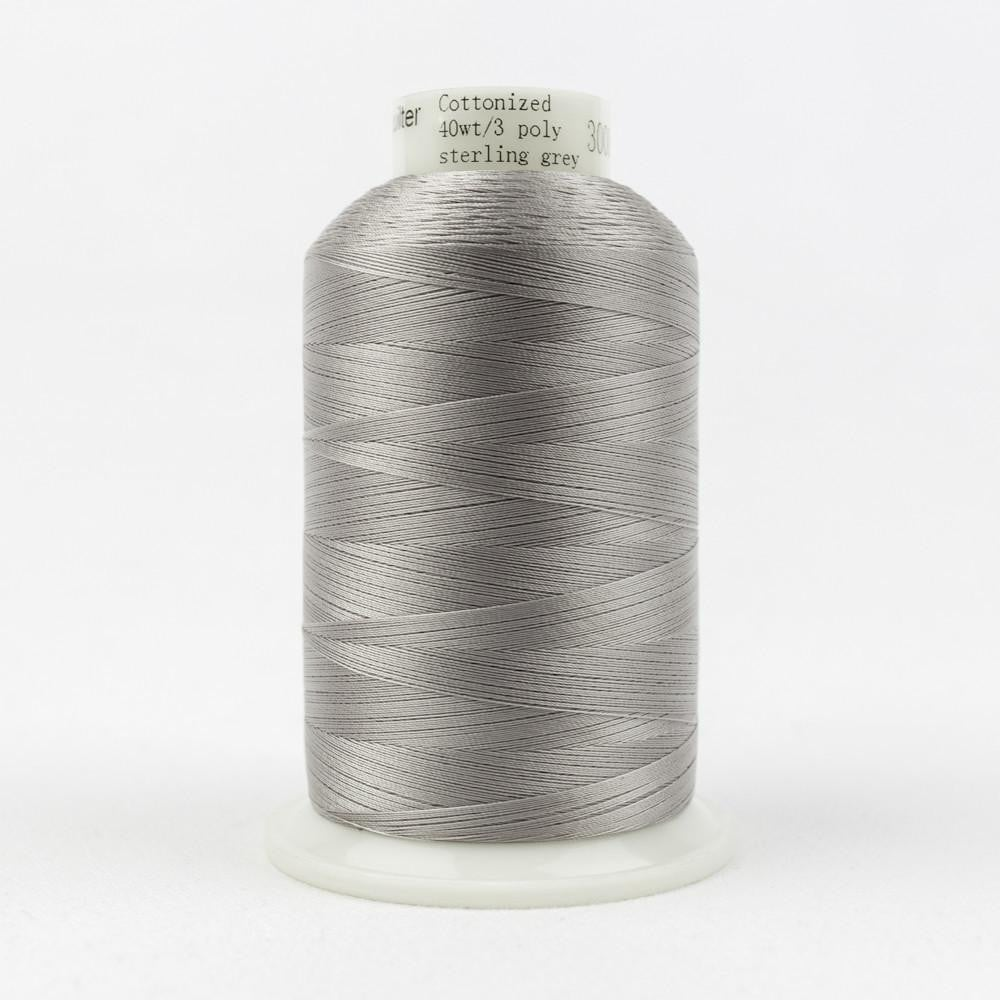 MQ37 - All Purpose Sterling Grey Polyester Thread 40wt - wonderfil-online-eu