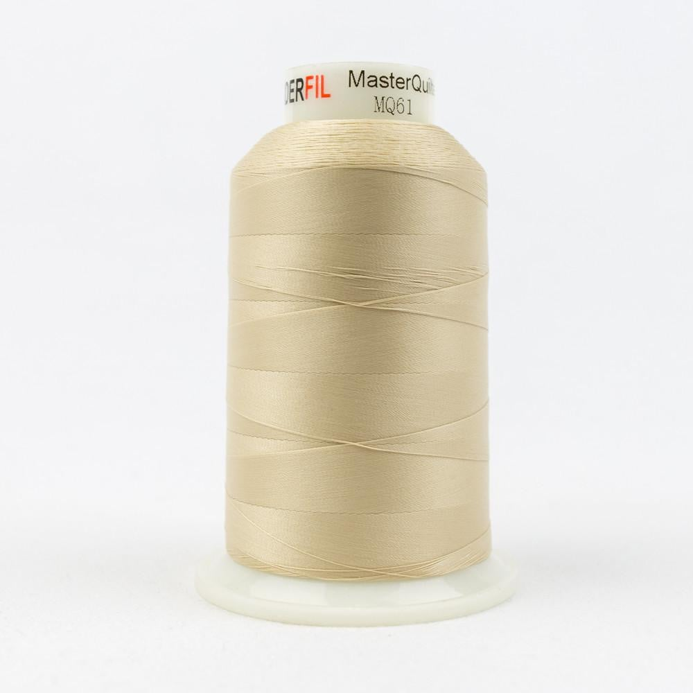 MQ61 - All Purpose Ivory Polyester Thread 40wt - wonderfil-online-eu