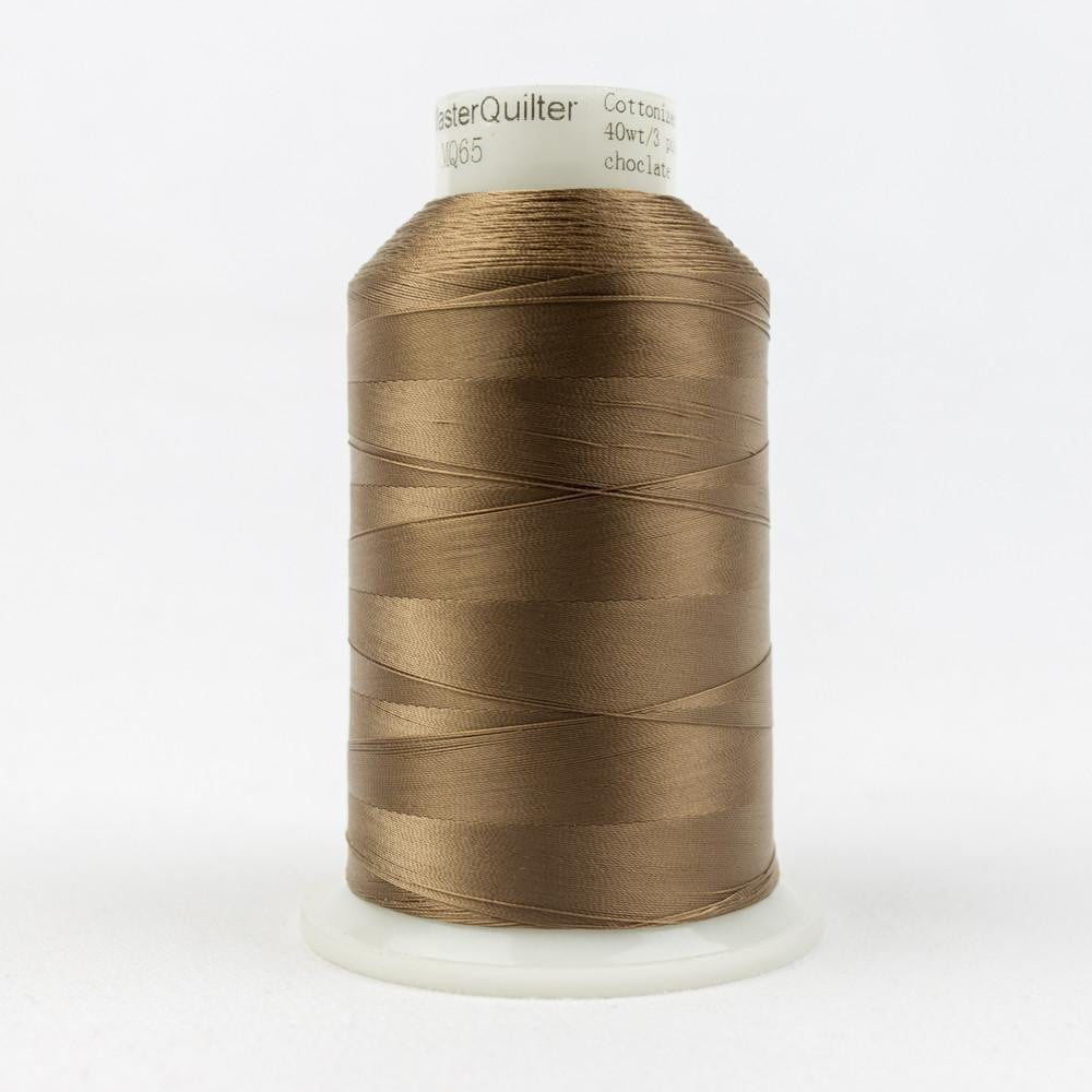 MQ65 - All Purpose Chocolate Polyester Thread 40wt - wonderfil-online-eu