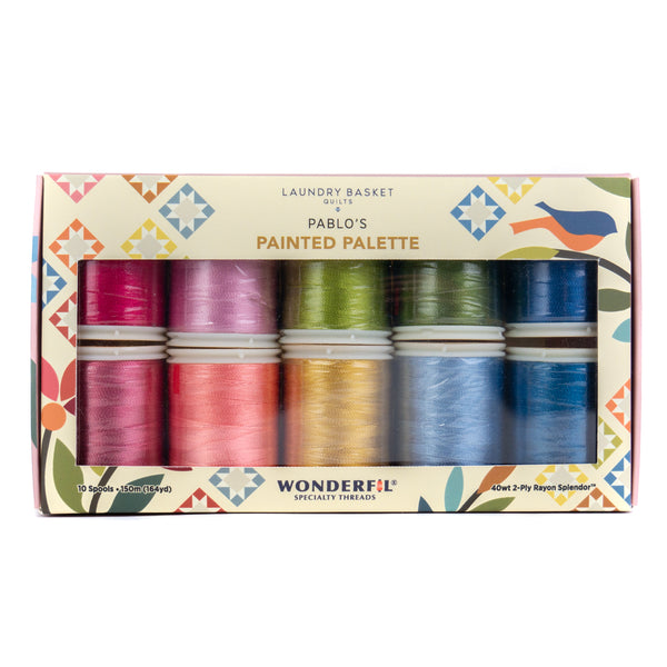 Pablo's Painted Palette by Edyta Sitar - Rayon Thread Pack