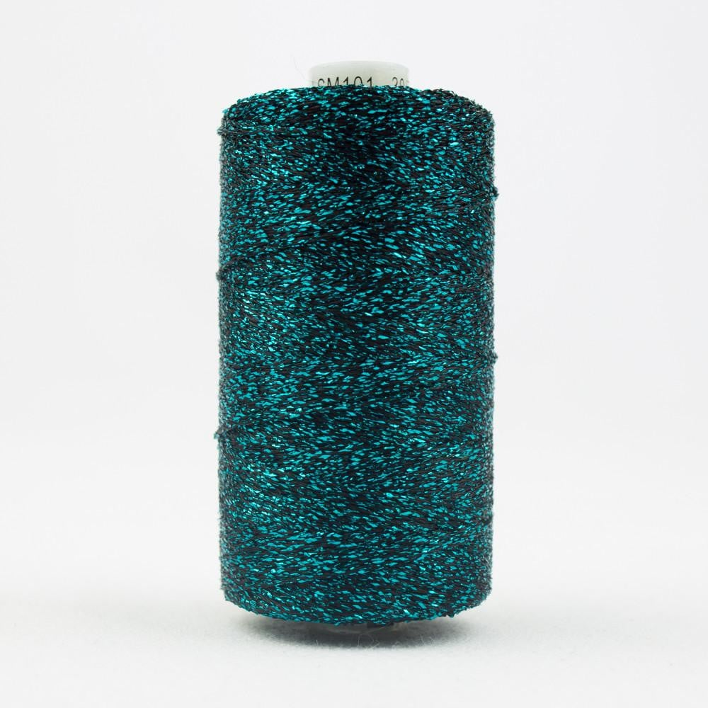 SM101 - Rayon with Metallic Teal Thread 8wt - wonderfil-online-eu