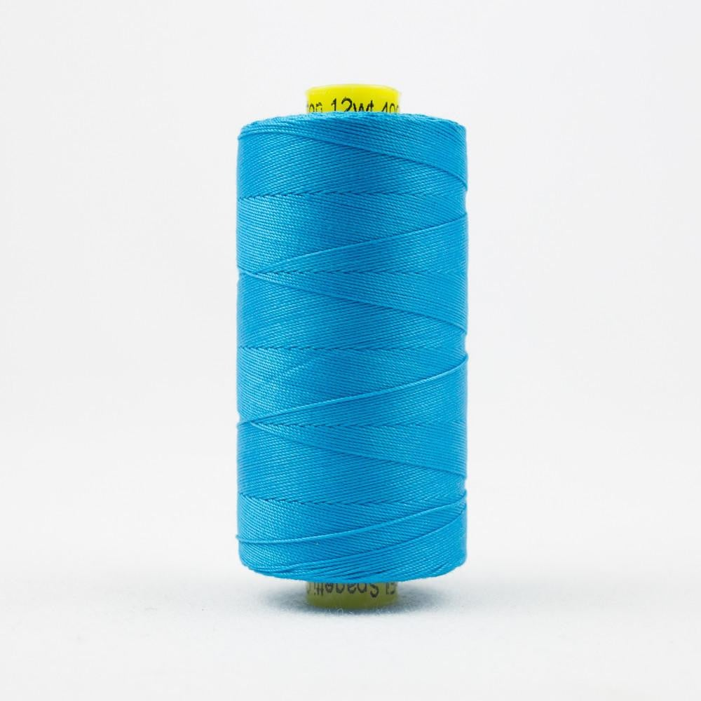 SP05 - Spagetti 12wt Egyptian Cotton Turquoise Thread - wonderfil-online-eu
